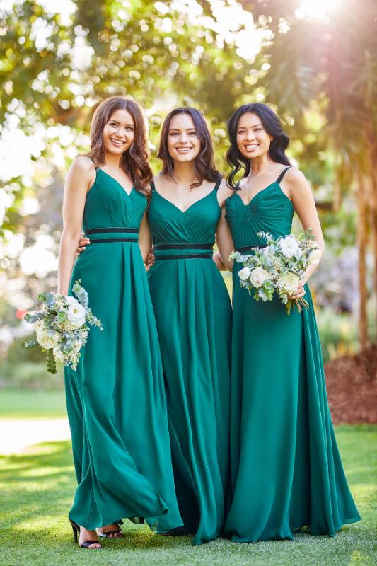 Sweetheart Spaghetti-Straps Sheath Glamorous Bridesmaid Dresses
