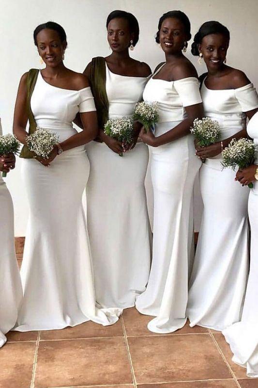 Off-the-shoulder Fashionable Sheath Bridesmaid Dresses