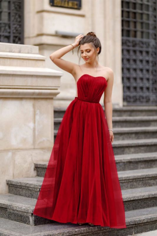 Off-the-shoulder Mermaid Burgundy Backless Prom Dress