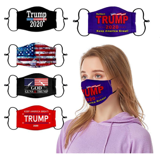 2021 Election Trump Cotton Masks Washable Breathable Mouth Cover