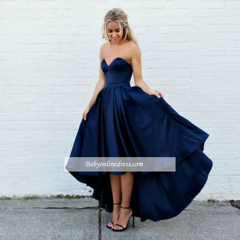 Amazing Sleeveless A-line Strapless Sweetheart Hi-lo Ball-Gown Evening Dresses