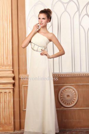 Wholesale Evening Dresses One Shoulder Sequins Chiffon Dress On Line BO0675