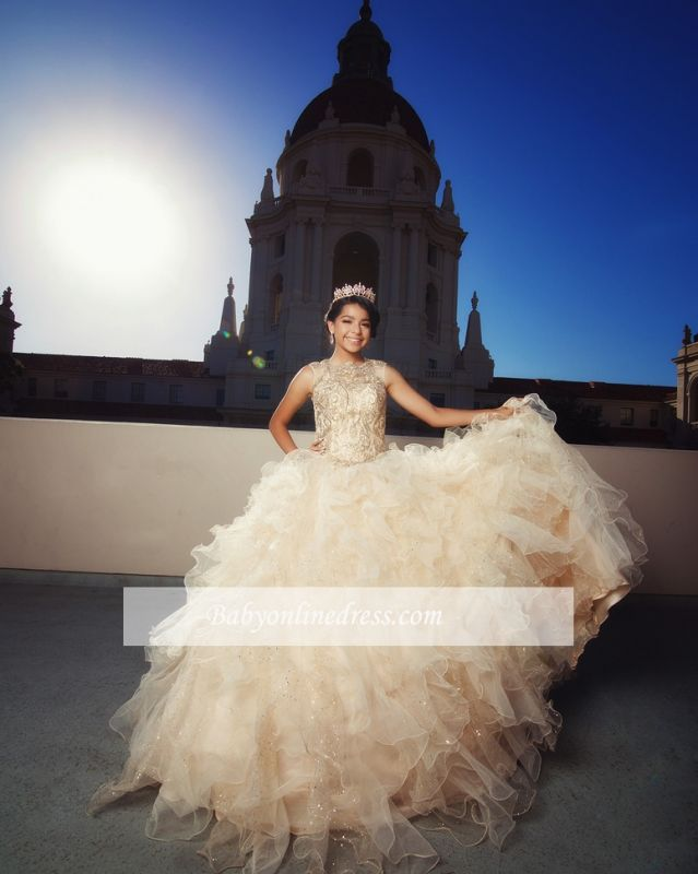 Fascinating Jewel Ball-Gown Appliques Sweet 16 Dresses