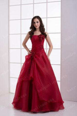 Wholesale Luxury Crimson Strapless Sequined Flowers Layered Quinceanera Dresses On Sale DH4250