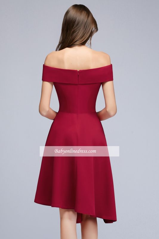 Hi-Lo A-Line Off-the-Shoulder Sweetheart Homecoming Dresses