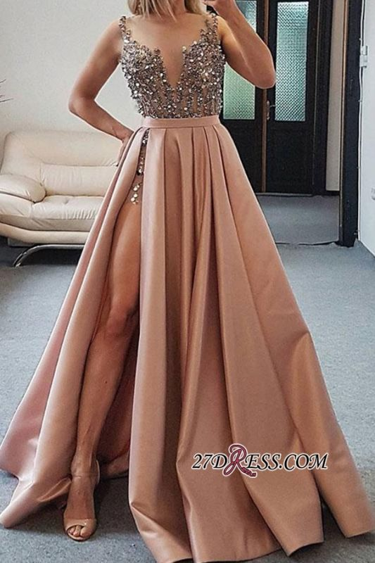 Sleeveless A-line Evening Dresses | Beautiful Beaded 2021 Formal Gowns