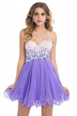 Open-Back One-Shoulder Glamorous Short A-Line Crystal Homecoming Dresses_2