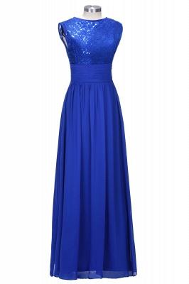 2021 Sea Blue Bridesmaid Dresses Lace Chiffon Elegant Long Maid of the Honor Dresses_1