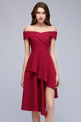 Hi-Lo A-Line Off-the-Shoulder Sweetheart Homecoming Dresses_1