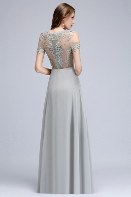 Appliques Scoop Cheap Cold-Shoulder Silver Beaded A-Line Bridesmaid Dresses_11
