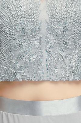 A-Line Appliques Silver Exquisite Chiffon Two-Pieces Bridesmaid Dresses_8