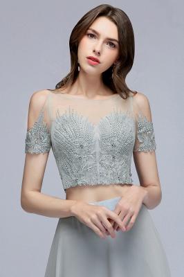 A-Line Appliques Silver Exquisite Chiffon Two-Pieces Bridesmaid Dresses_6
