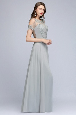 Appliques Scoop Cheap Cold-Shoulder Silver Beaded A-Line Bridesmaid Dresses_7