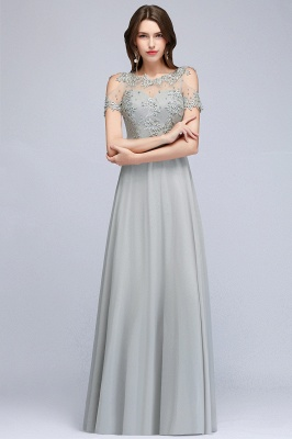 Appliques Scoop Cheap Cold-Shoulder Silver Beaded A-Line Bridesmaid Dresses_5
