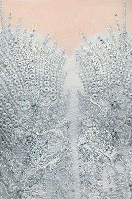 A-Line Appliques Silver Exquisite Chiffon Two-Pieces Bridesmaid Dresses_9