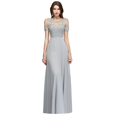 Appliques Scoop Cheap Cold-Shoulder Silver Beaded A-Line Bridesmaid Dresses_10