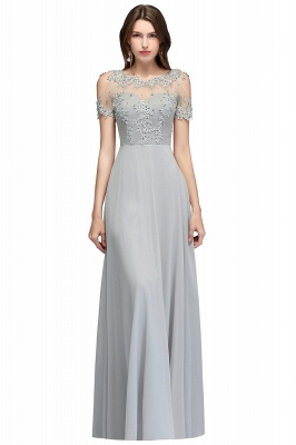 Appliques Scoop Cheap Cold-Shoulder Silver Beaded A-Line Bridesmaid Dresses_3