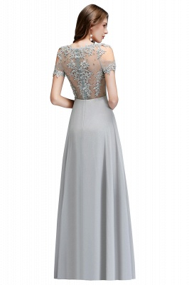 Appliques Scoop Cheap Cold-Shoulder Silver Beaded A-Line Bridesmaid Dresses_6
