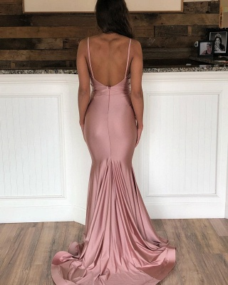 Mermaid Sweep-Train Amazing Prom Dresses | Spaghetti-Straps Evening  Gowns_4