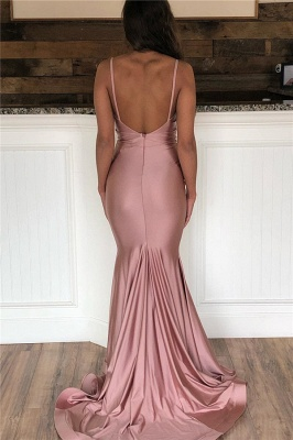 Mermaid Sweep-Train Amazing Prom Dresses | Spaghetti-Straps Evening  Gowns_2