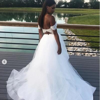 Appliques Lace A-line Wonderful Wedding Dresses_2