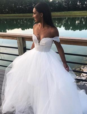 Appliques Lace A-line Wonderful Wedding Dresses_1