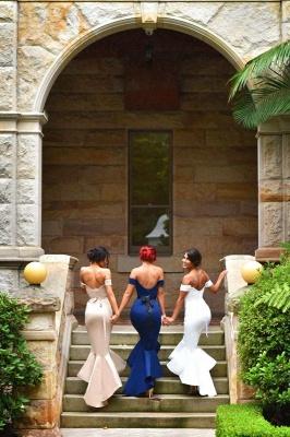 Newest Mermaid Ruffles Off-the-shoulder Long Lace-up Bridesmaid Dress BA2739_4