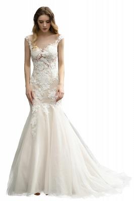 Gorgeous Floor Length  Lace Tulle Wedding Dresses Mermaid_5