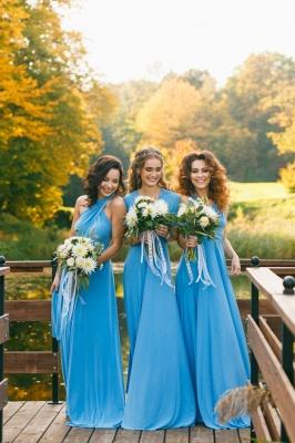 Elegant A-line Covertible Sash Bridesmaid dresses_3