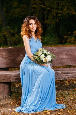 Elegant A-line Covertible Sash Bridesmaid dresses_8
