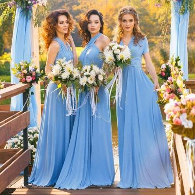 Elegant A-line Covertible Sash Bridesmaid dresses_1