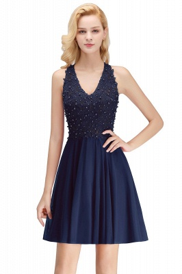Cheap A-Line Homecoming Dresses | Sexy Lace Beading Short Chiffon Cocktail Dresses_3