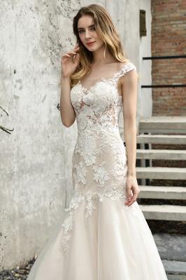 Gorgeous Floor Length  Lace Tulle Wedding Dresses Mermaid_3
