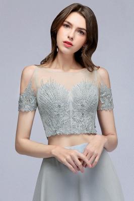 A-Line Appliques Silver Exquisite Chiffon Two-Pieces Bridesmaid Dresses_7