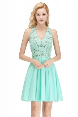 Cheap A-Line Homecoming Dresses | Sexy Lace Beading Short Chiffon Cocktail Dresses_4