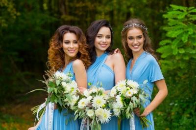Elegant A-line Covertible Sash Bridesmaid dresses_9
