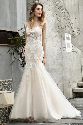 Gorgeous Floor Length  Lace Tulle Wedding Dresses Mermaid_1
