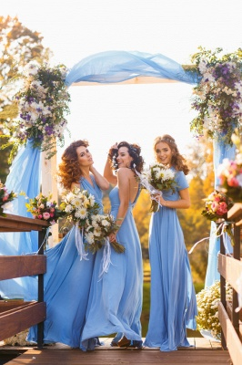 Elegant A-line Covertible Sash Bridesmaid dresses_4