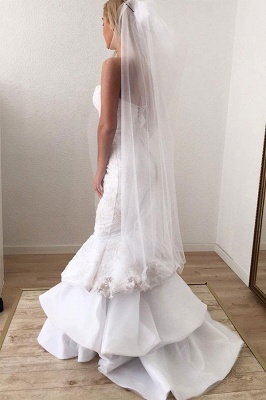 Mermaid Beading Applique Sweetheart Backless Sleeveless Wedding Dresses_2