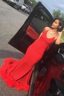 Unique Halter Sequiend Sheath Floor-length Red Sequined Prom Dresses_2