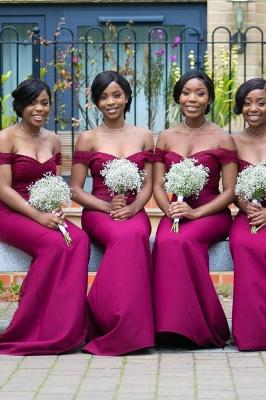 Off-the-shoulder Sheath Applique Sweethert Bridesmaid Dresses_1