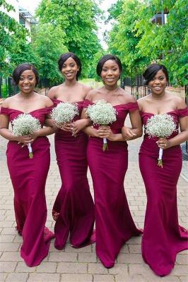 Off-the-shoulder Sheath Applique Sweethert Bridesmaid Dresses_2