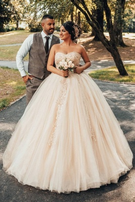 Wholesale Sweetheart Lace Tulle Ball Gowns Wedding Dresses