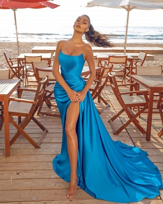 Sexy Split front Evening Party Dress Sleeveless Cocktail Prom Dress_2
