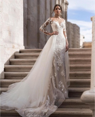 Cheap Sexy Lace Wedding Dresses Long Sleeves Online