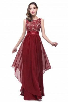 Sleeveless Appliques Lace Elegant Chiffon Long Evening Dress_1