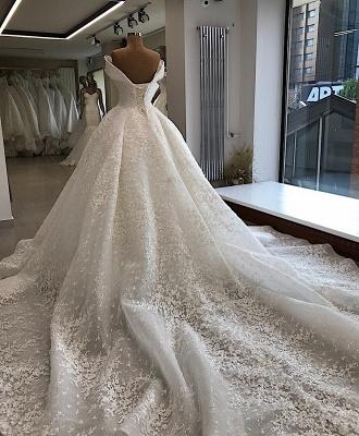 Appliques Ball-Gown Off-the-shoulder Elegant Wedding Dresses_3