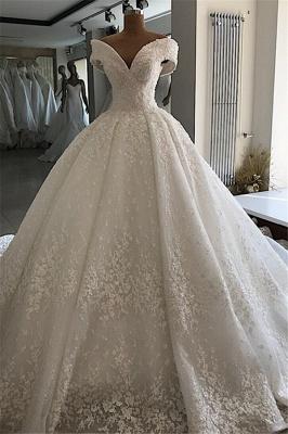 Appliques Ball-Gown Off-the-shoulder Elegant Wedding Dresses_4