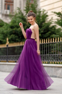Off-the-shoulder Mermaid Burgundy Backless Prom Dress_4