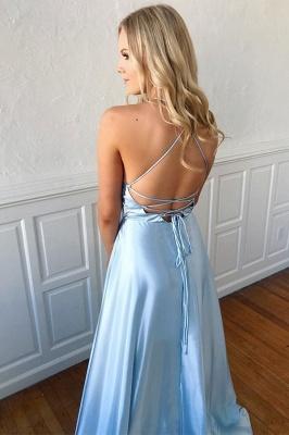 Formal Side-slits Halter A-line Impressive Evening dress_2